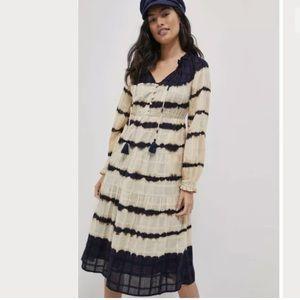 Anthropologie Bonnie Tie-Dye Midi Dress NWT Cotton